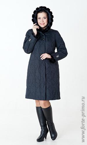 Пальто с мехом норки оптом